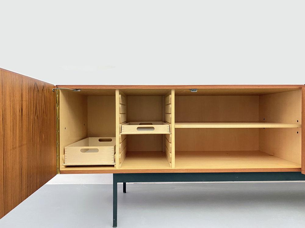 Mid-century Sideboard, Teak und Ahorn, 50s