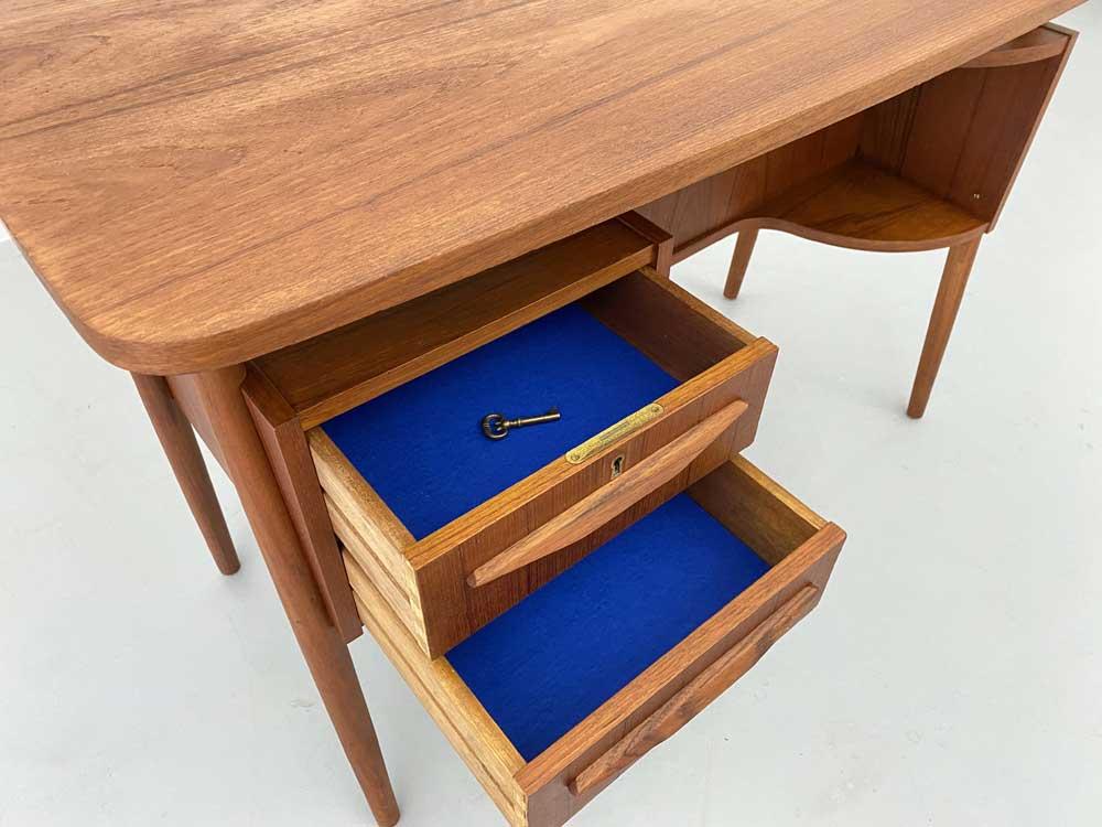 Vintage Schreibtisch, 60er Jahre, Danish Design