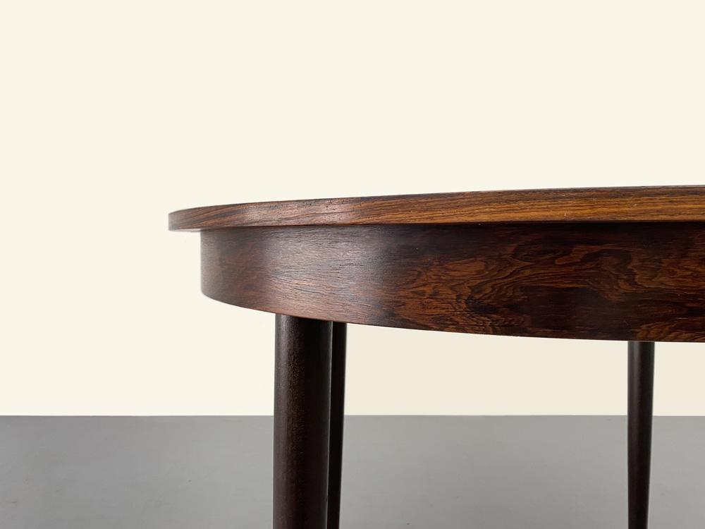 Esstisch Rosenholz furniert, Vintage, 60er Jahre