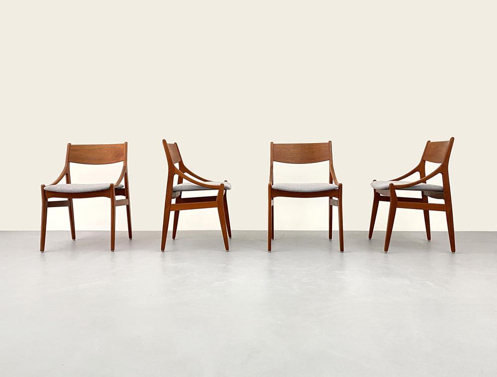 Set Vestervig Eriksen Teak Stühle
