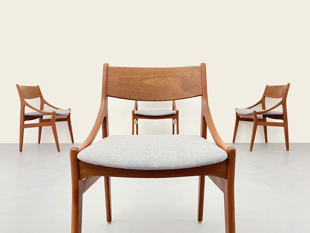 Teak Stühle Dänemark, Vintage