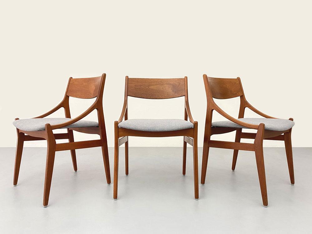 Vintage Stühle, Dänemark, 60er Jahre